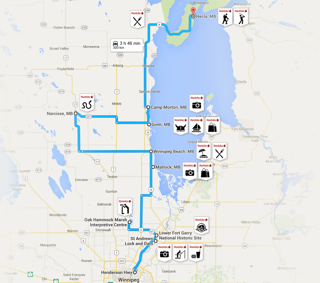 Interlake Road Trips Map