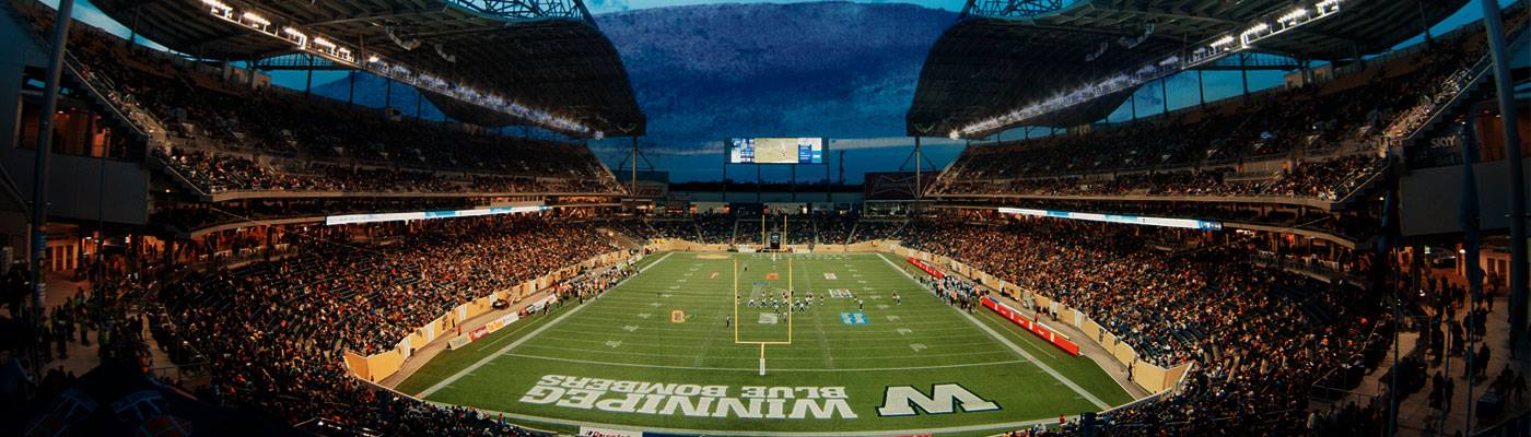 Investors Group Field, site of the 103rd Grey Cup in Winnipeg, Manitoba