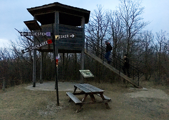 The Lookout Point in Bird's Hill Park, Manitoba