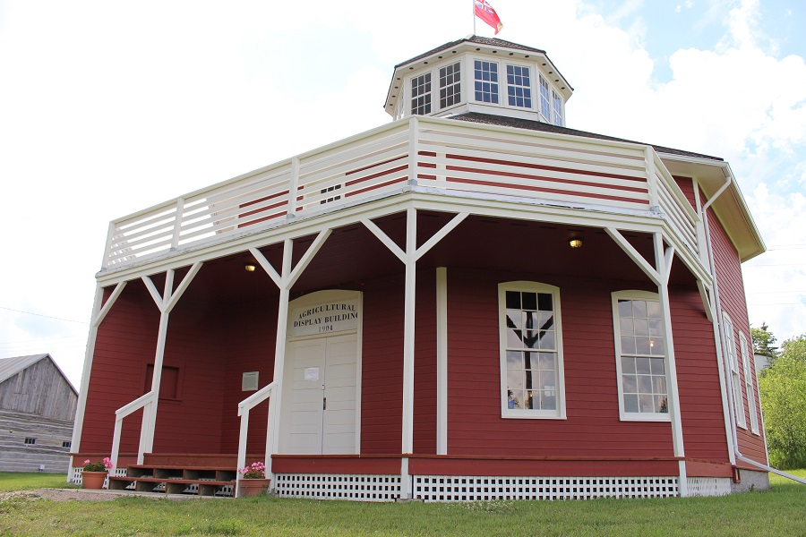 Agricultural Display Building also known as Octogon Building at Minnedosa Heritage Village