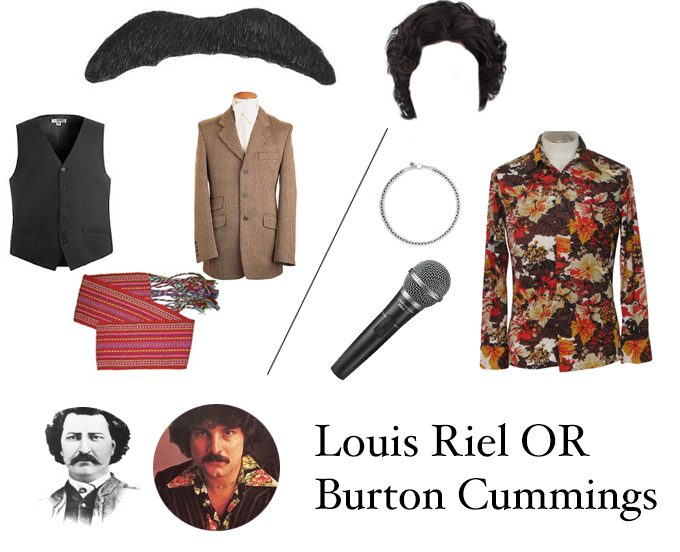 Louis Riel Halloween Costume or Burton Cummings Halloween Costume