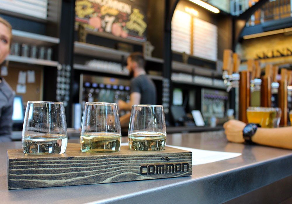 The Common Beer and Wine Kiosk in the Forks Market