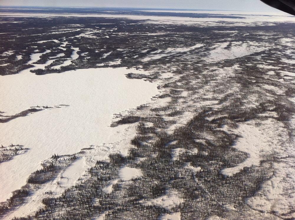 Aerial view of Churchill, Manitoba