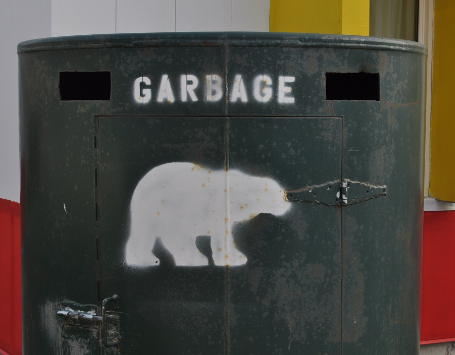 Garbage can in Churchill, Manitoba