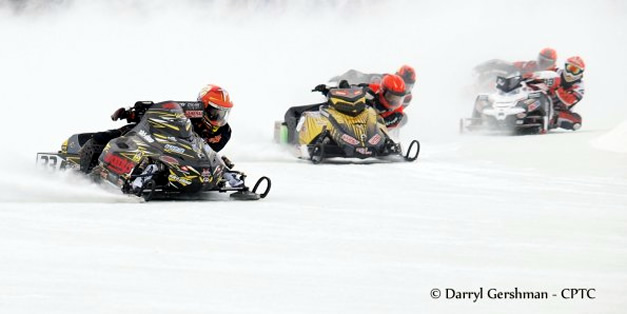 Canadian Power Toboggan Championships Ice Oval Races