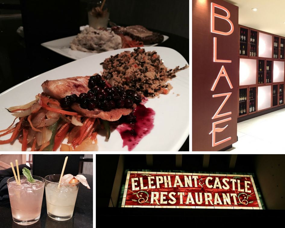 Blaze Restaurant and Elephant and Castle in the Delta Winnipeg