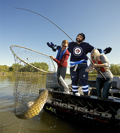 Dustin Byfuglien as a fishing guide