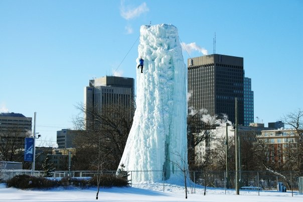 Ice Tower Climbing