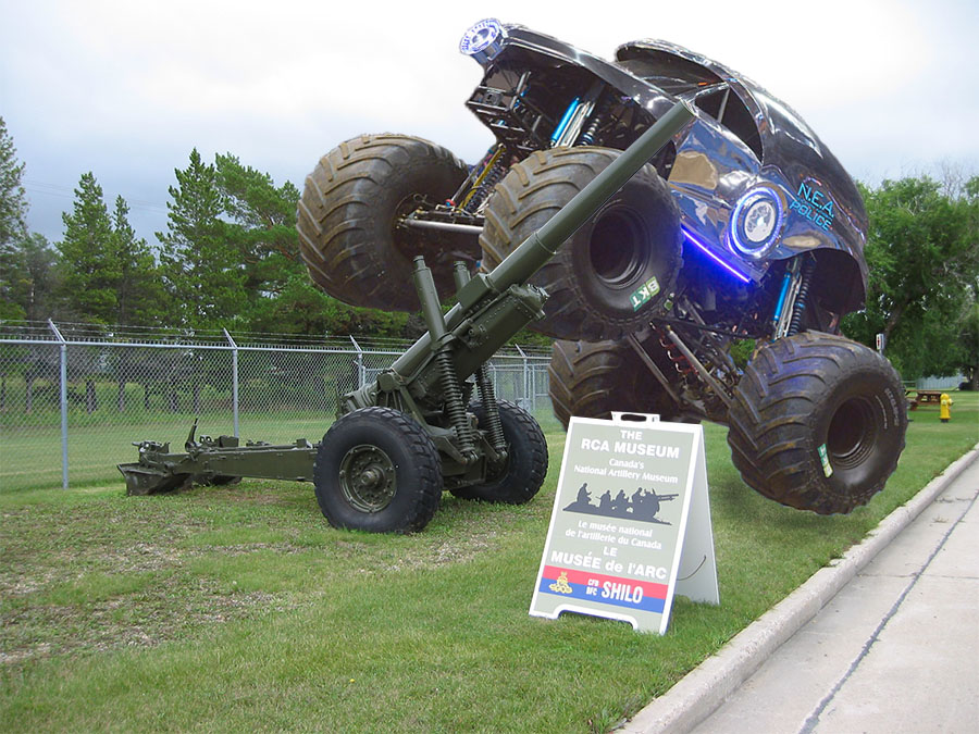 Monster Truck NEA goes to the RCA Museum in Manitoba