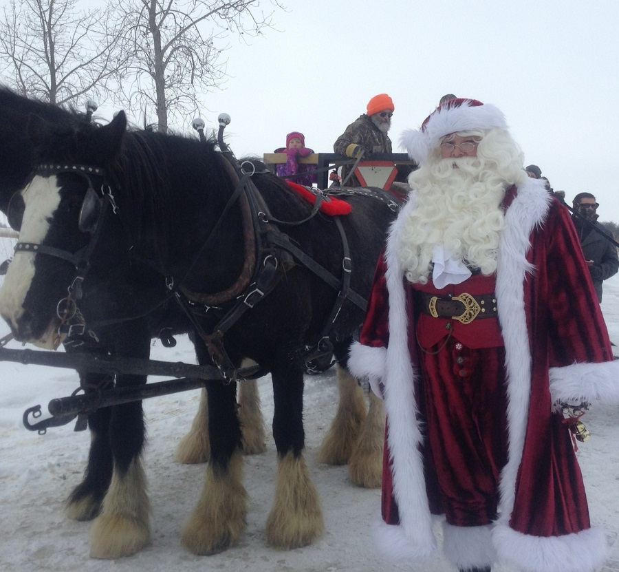 Santa at the Marsh at Oak Hammock Marsh Interpretive Centre