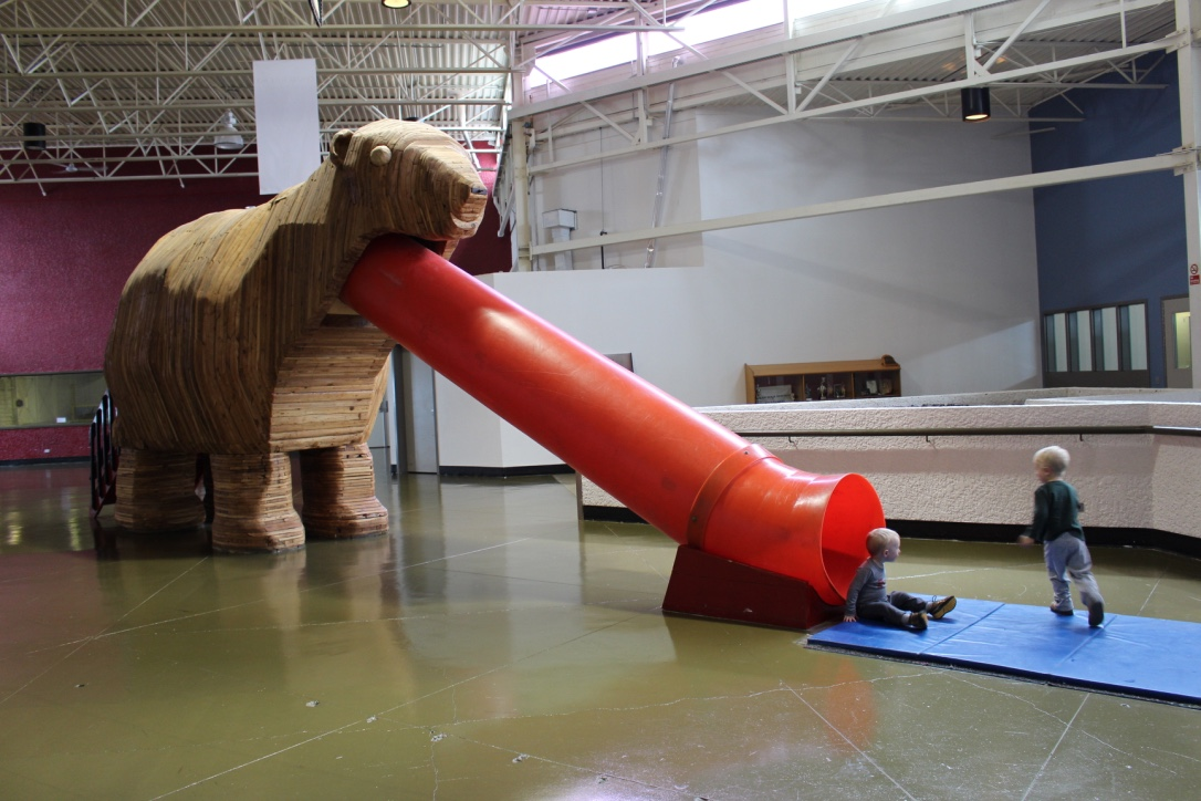Polar bear slide in Churchill Town Complex