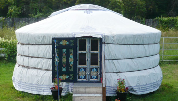 Yurt at Journey Home Artist Retreat in Manitoba