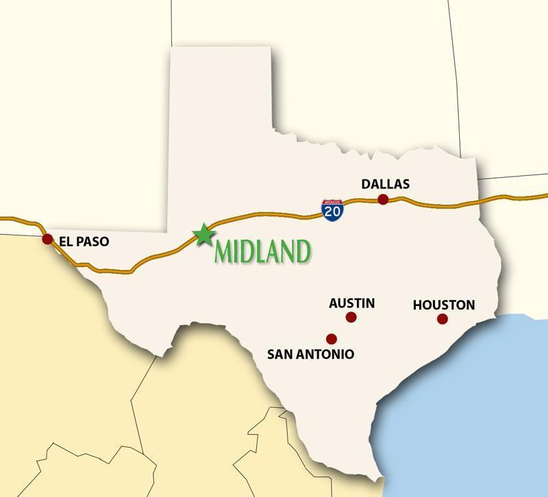 Map Of Texas Midland