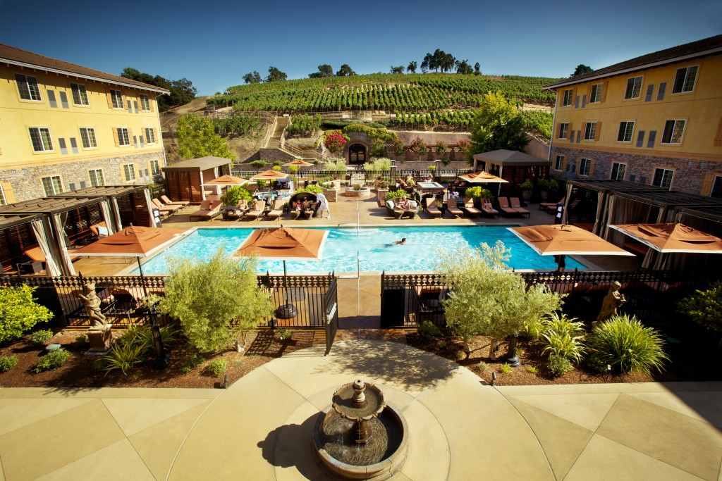 Pool and Vineyards - The Meritage Resort and Spa