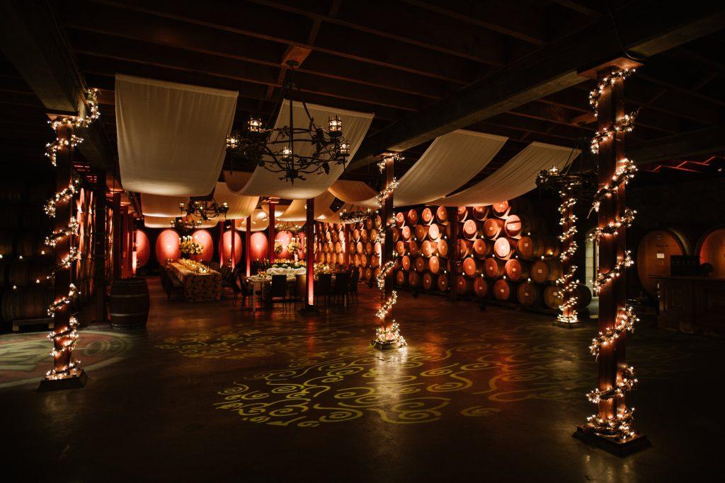 V. Sattui Barrel Cellar Dance floor