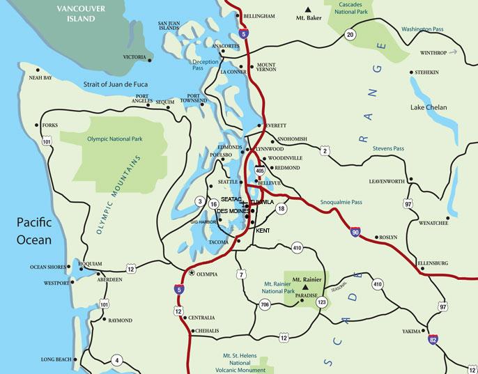 Plan Your Trip Maps Seattle Southside