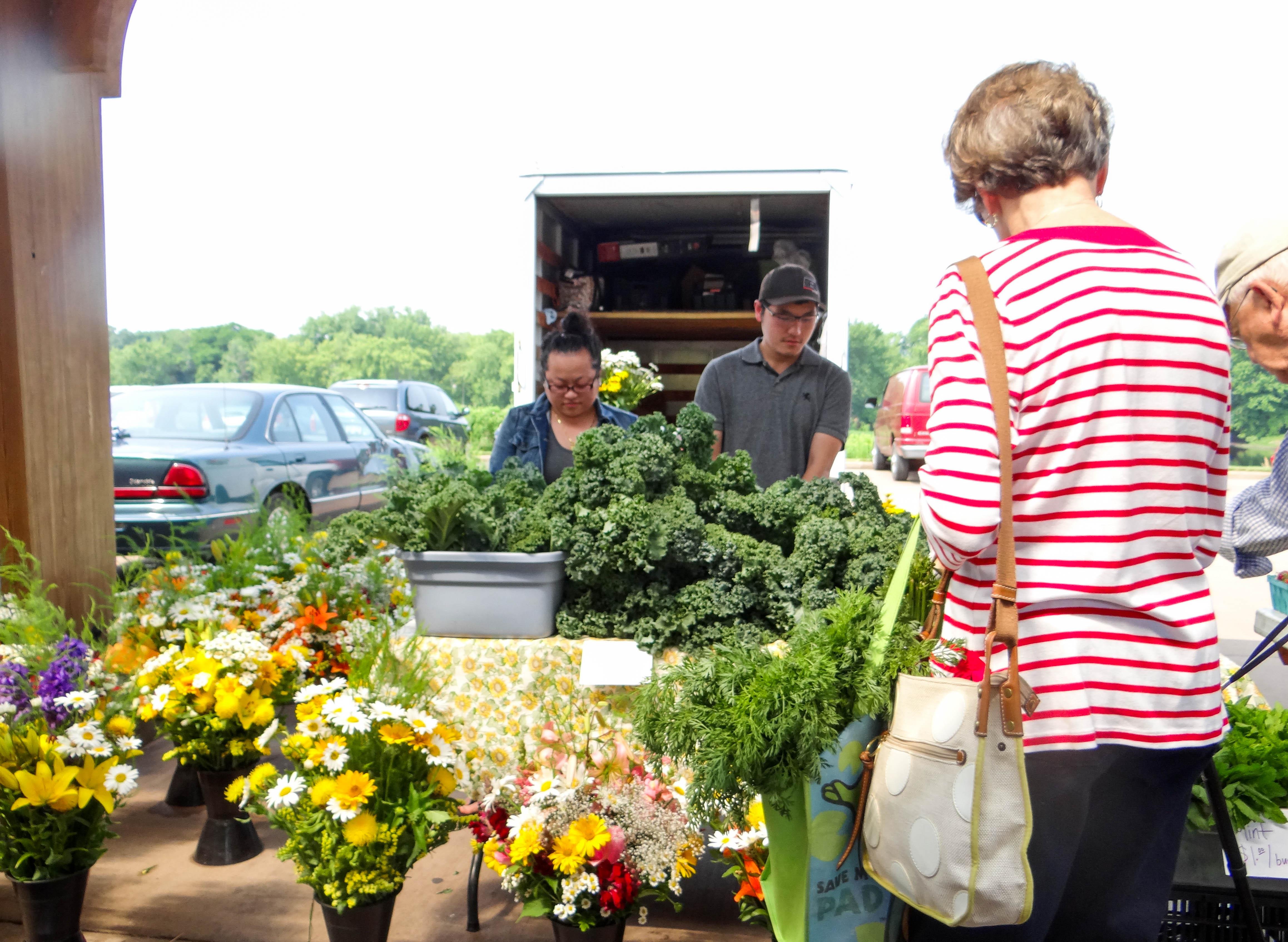 Farmer's Market in Downtown Eau Claire, Wisconsin