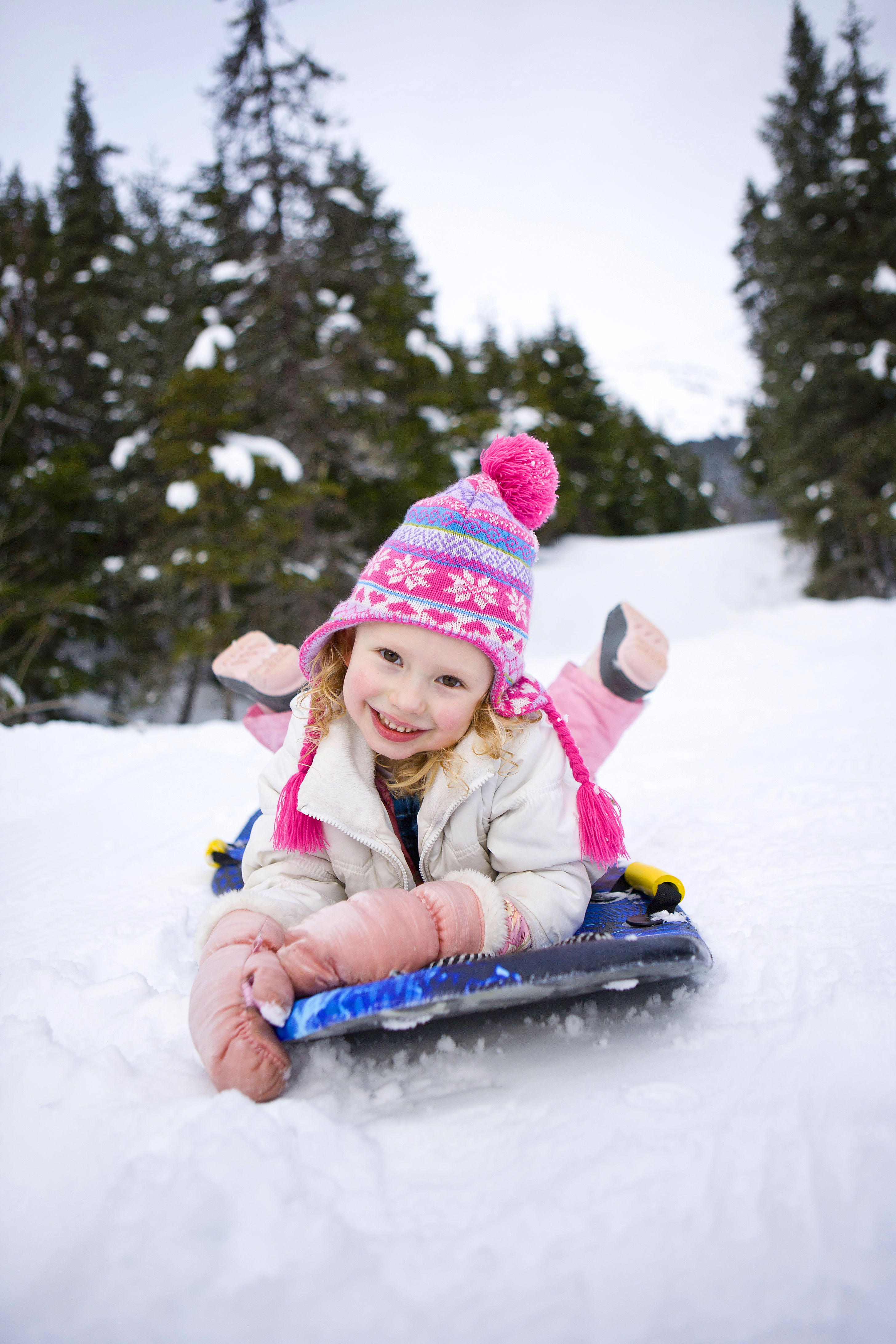 Kids love to play in the snow