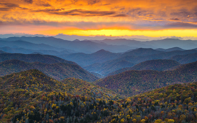 Fall Colors in the Mountains near Asheville, NC