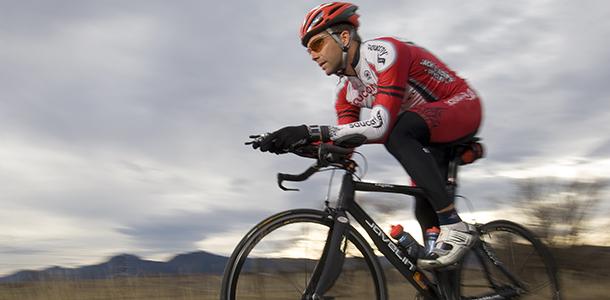 Cyclist in Boulder