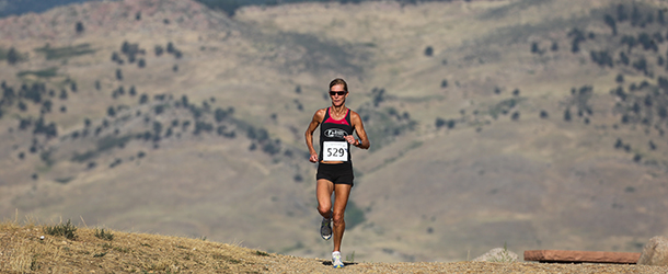 Runner in Bouder Foothills