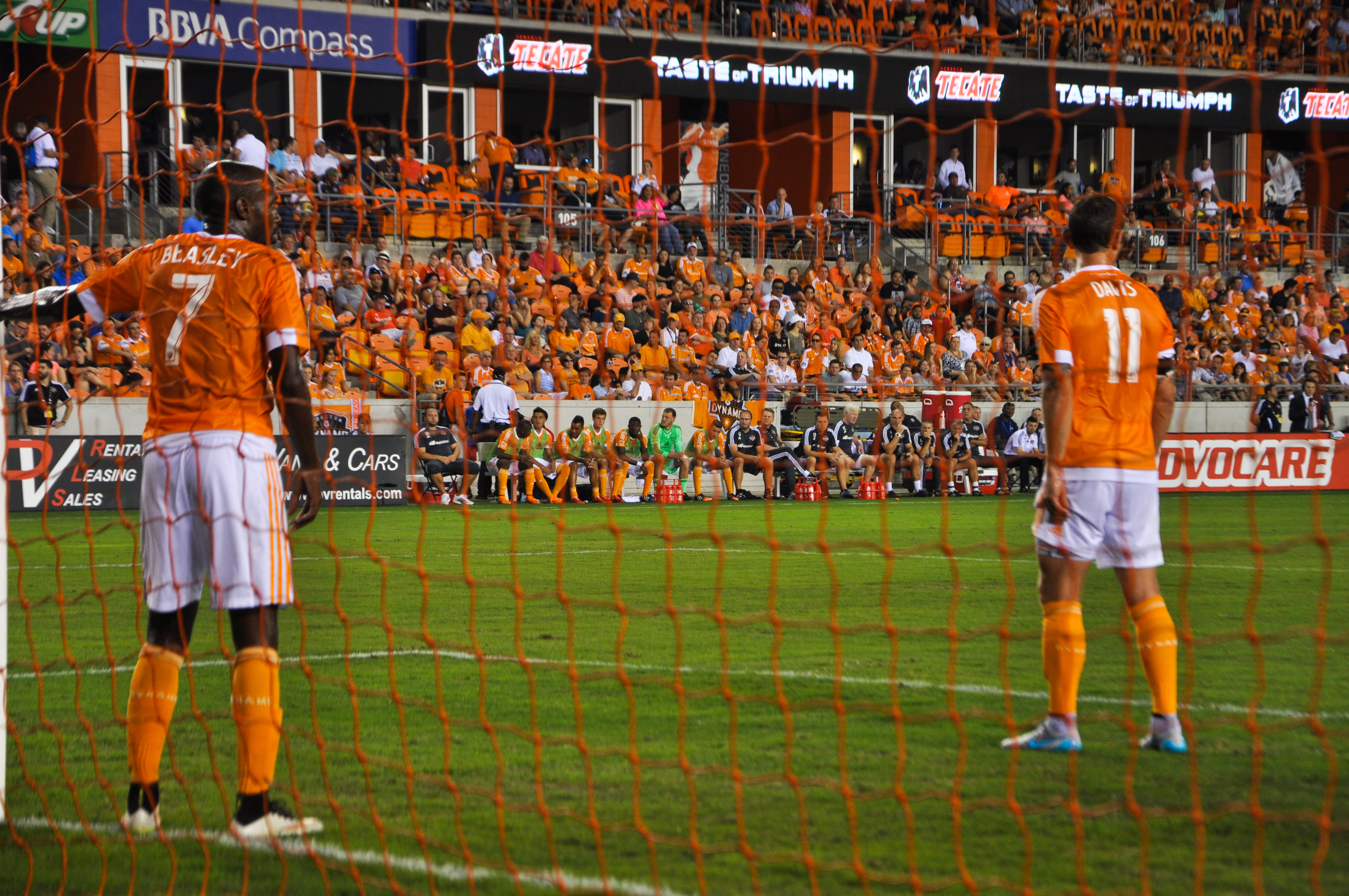 Houston Dynamo Players on Field
