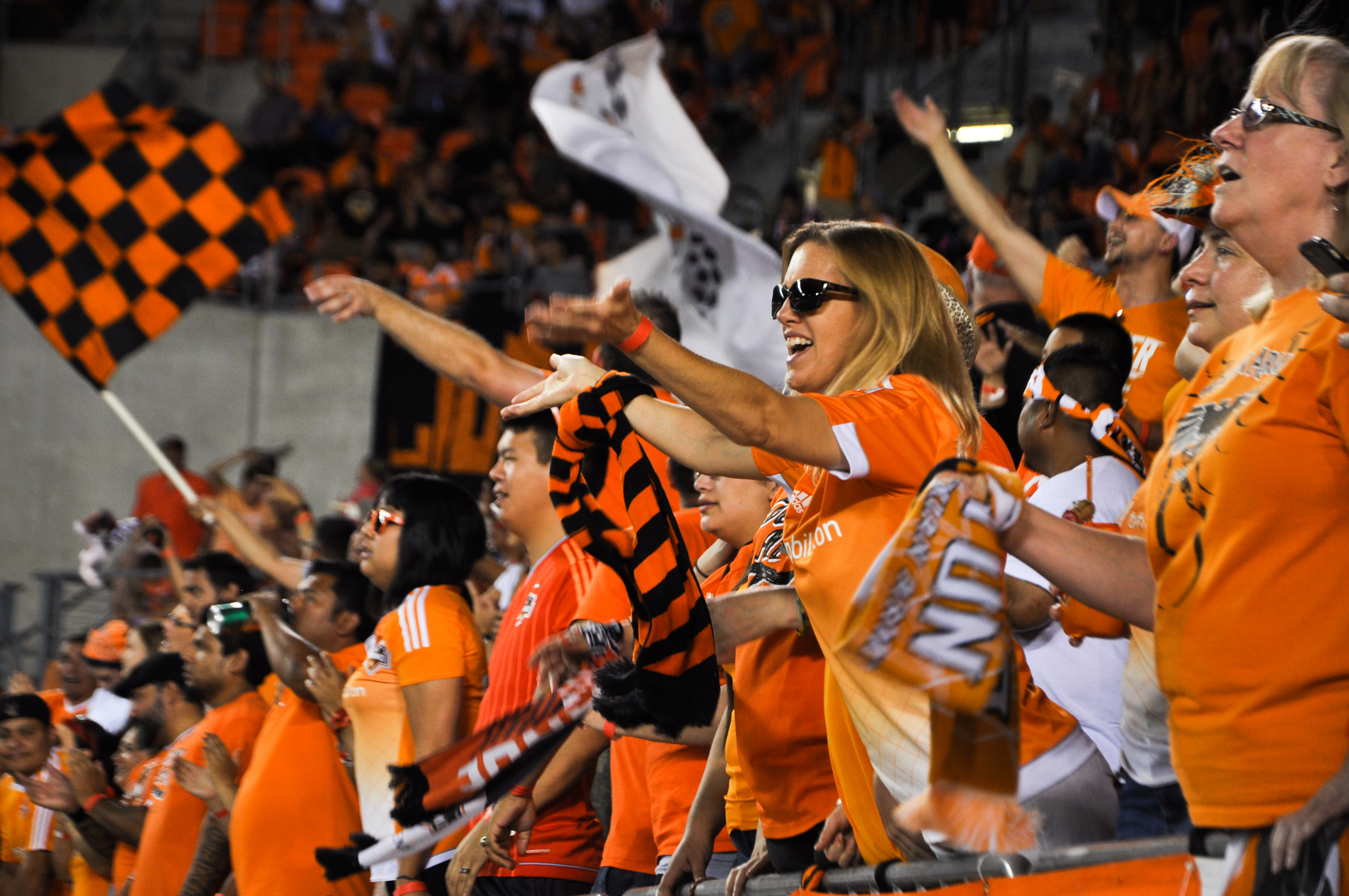 Cheering Houston Dynamo Fans