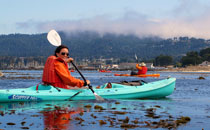 Kayaking on Monterey Bay