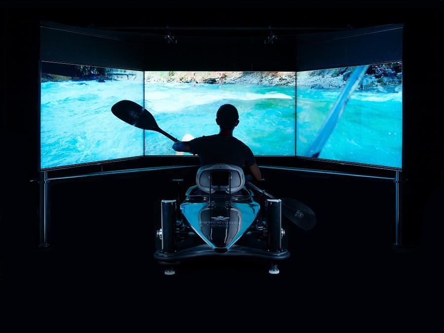 Kayak Simulator at the ROX