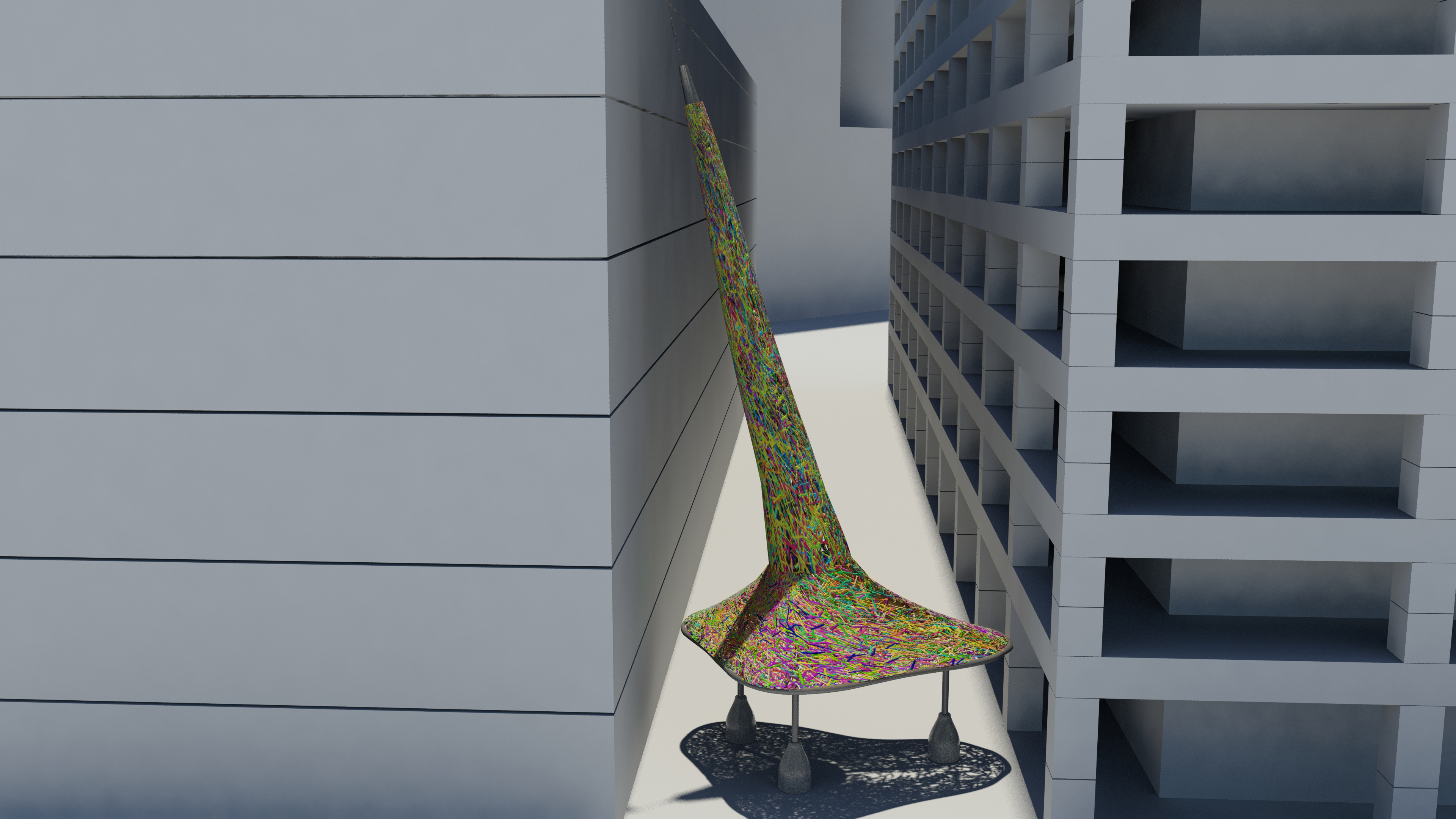 Trumpet Flower art blocks