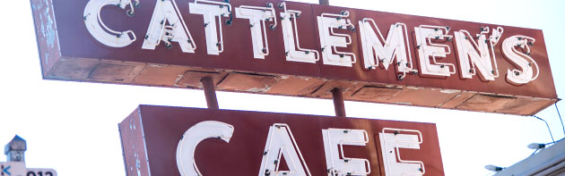 Cattlemen's Cafe Sign
