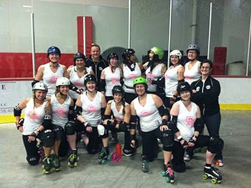 The Lansing Derby Vixens are making an impact, both on the community, and on opponents faces...Awesome.