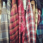 This is a plaid man's closet