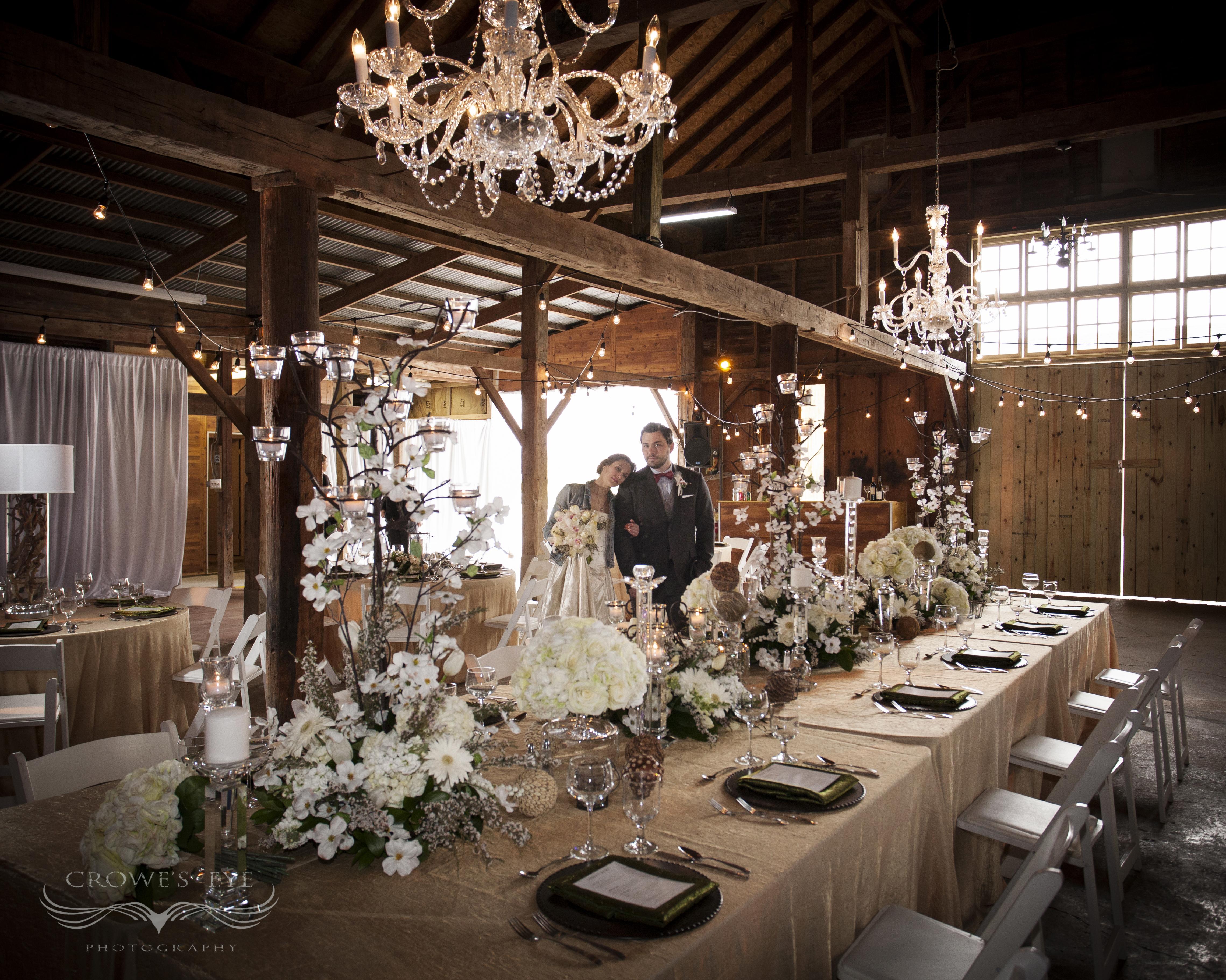Inside The Avon Wedding Barn