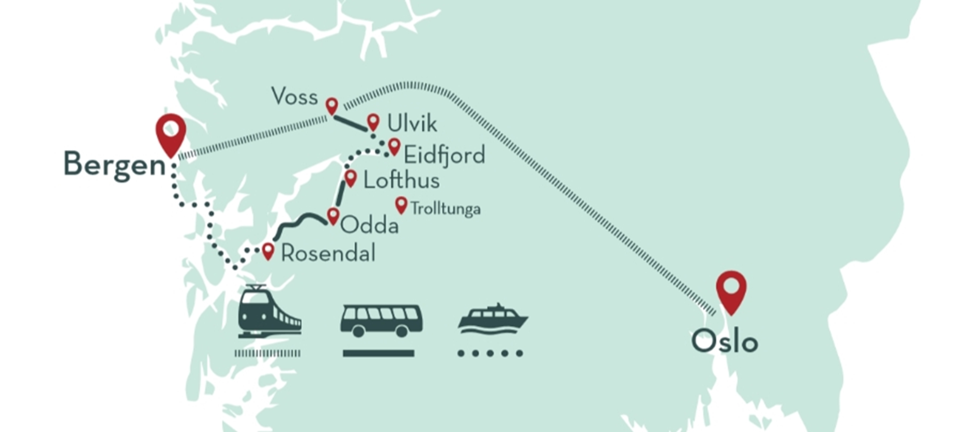 Hardangerfjord In A Nutshell Official Travel Guide To Norway - Norway map highlights