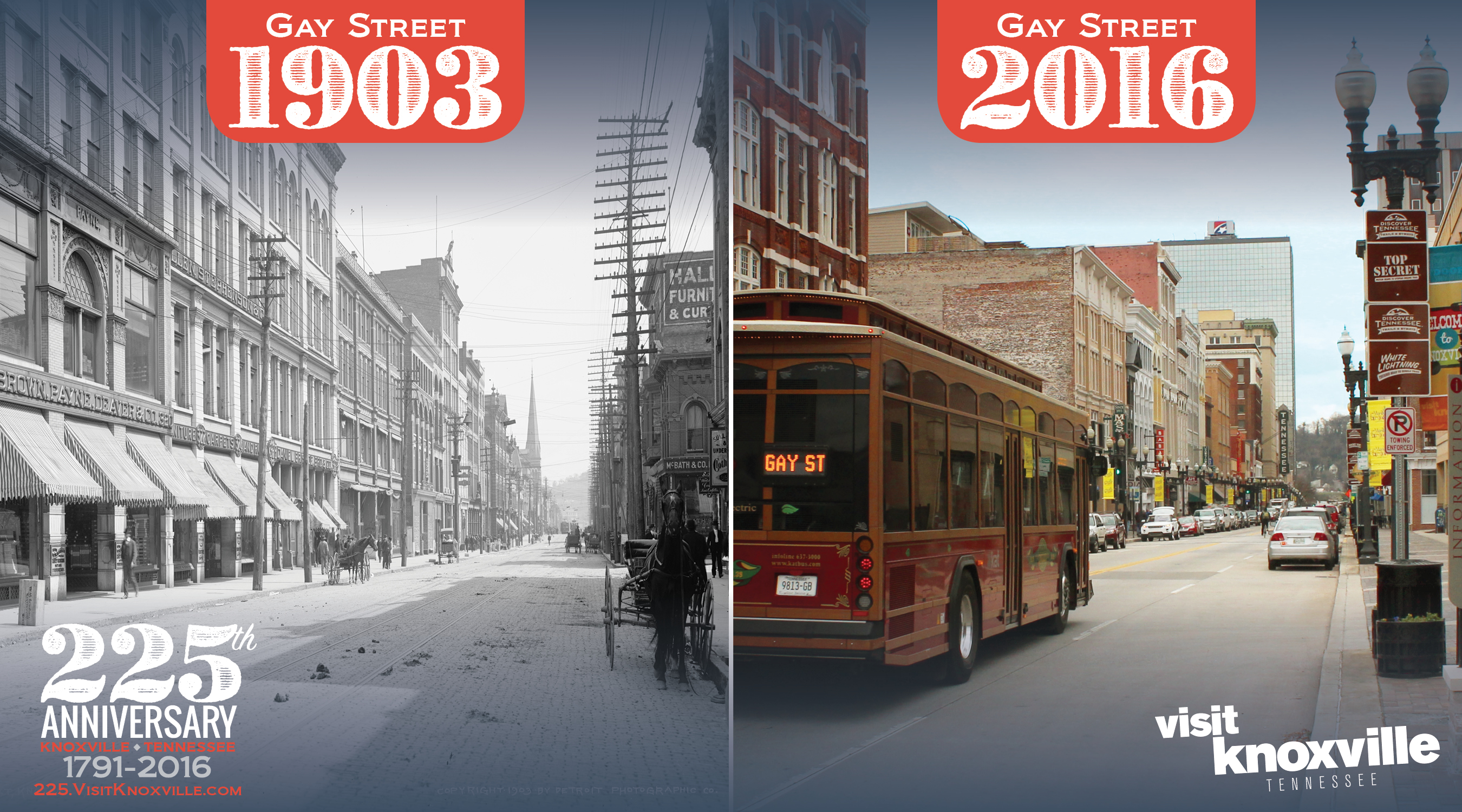 Gay Street 225 now and then