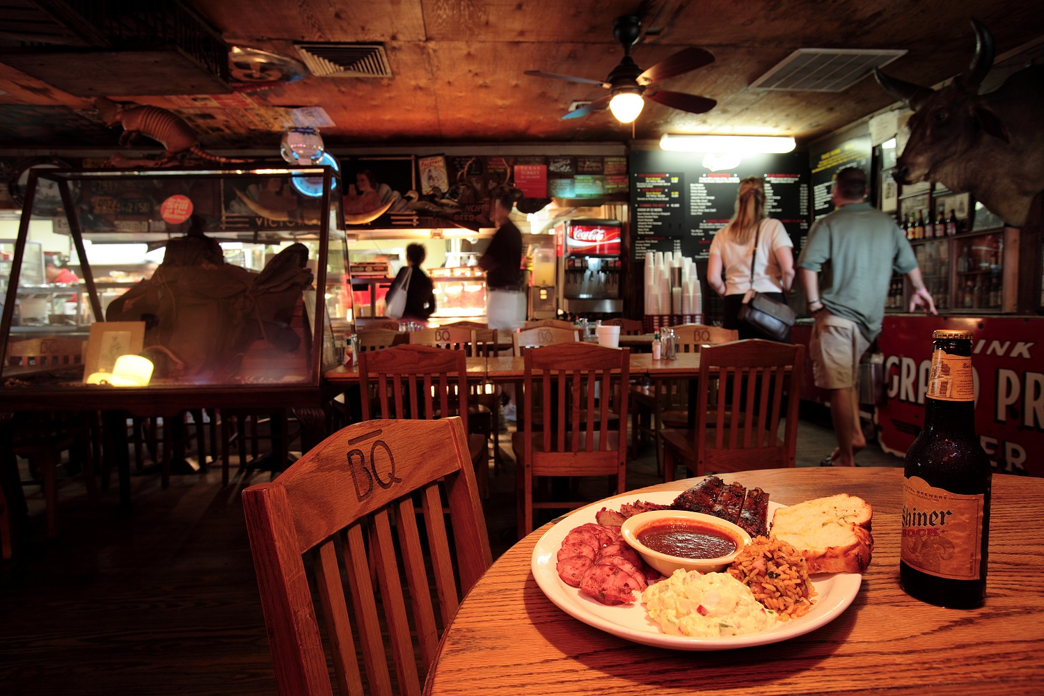 Interior of Goode Co. BBQ in Houston