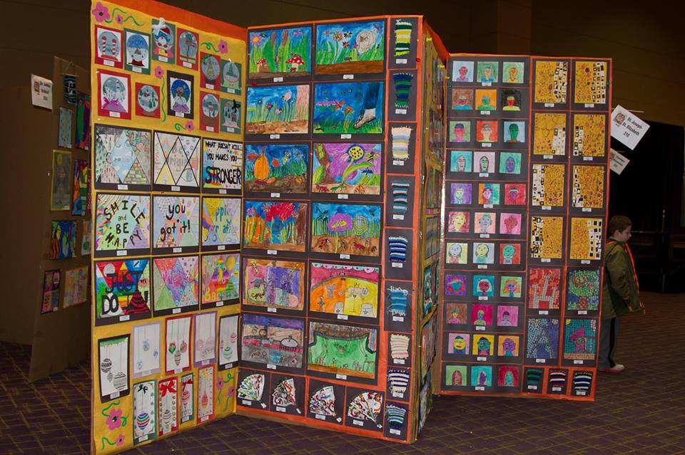 Just one example of the types of art displays you will find at the FAME Festival.