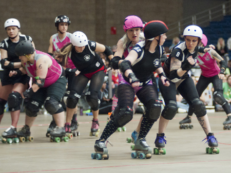 Watch the Derby Girls in Action on April 18th!