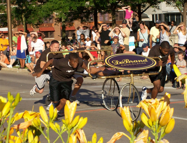 The Bed Race is always a must-see event!