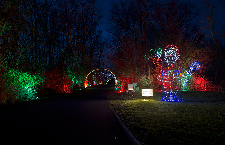 A Santa sighting is always a must at the Fantasy of Lights!