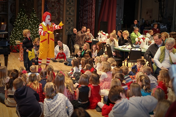 Ronald McDonald makes an appearance at the Breakfast with Santa event