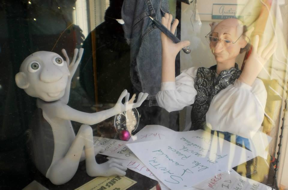 Imaginary creatures are brought to life in the window displays!