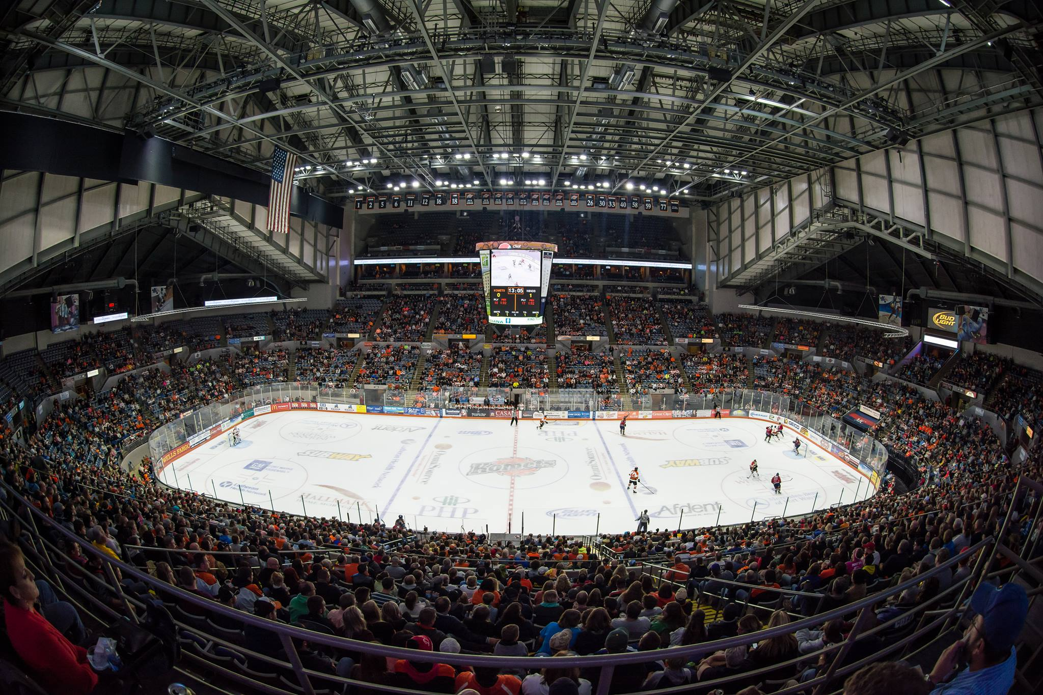 The arena at the Allen County War Memorial Coliseum comes to life when the Komets are in town!
