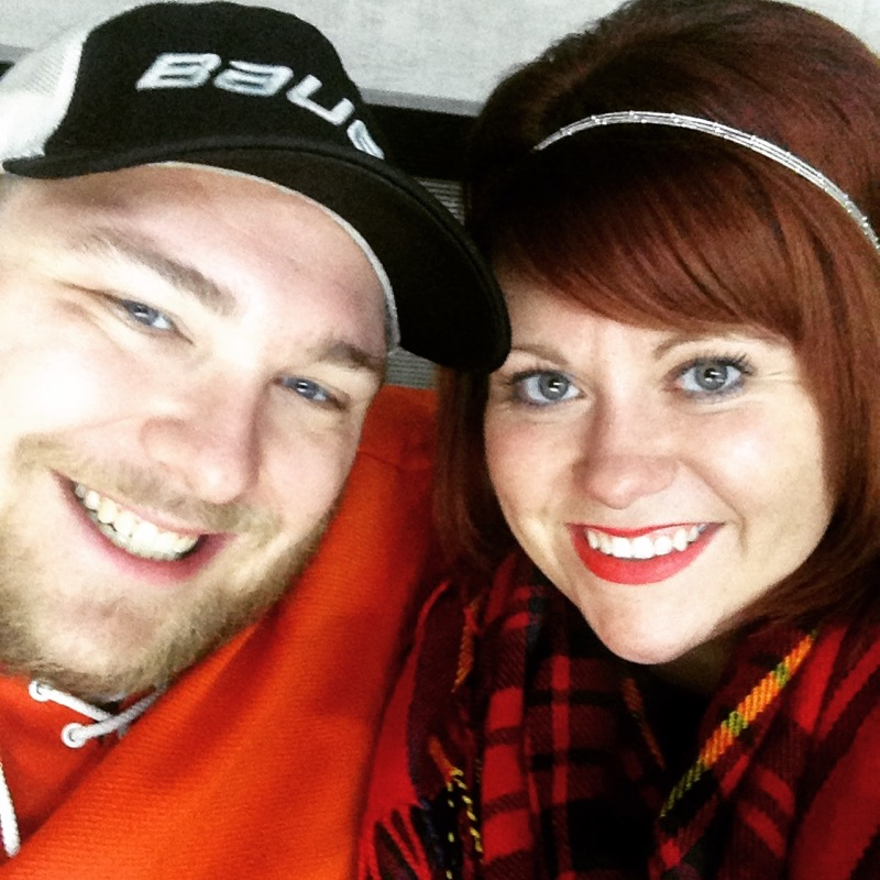 Our annual first Komets game of the year photo - another Komets tradition!