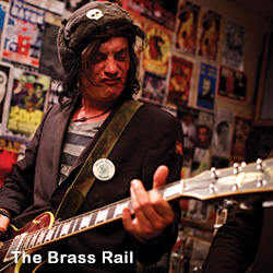 Brass Rail Guitar Player