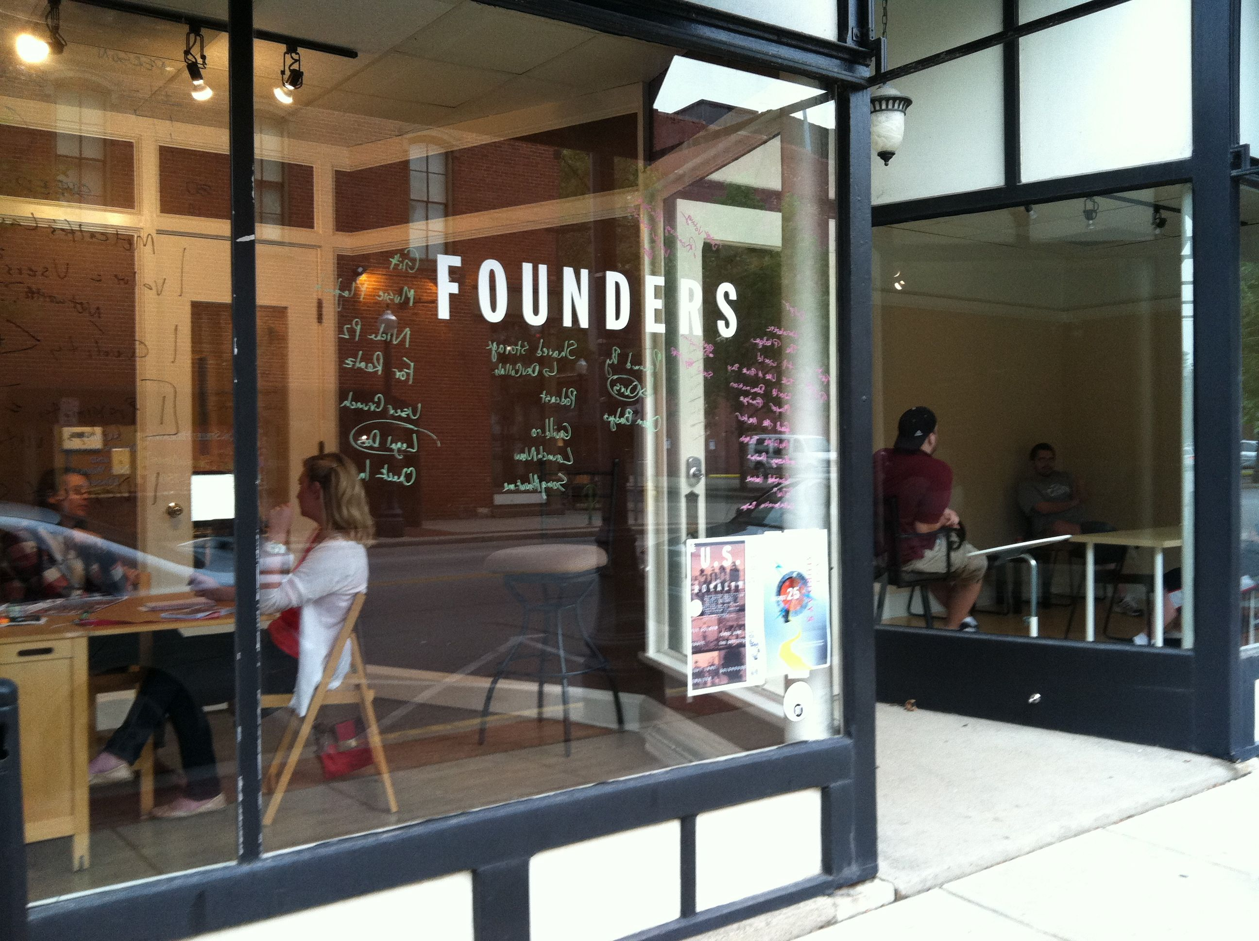 Stop by Founders to meet a local community of entrepreneurs.