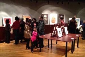 Visitors enjoy FWMoA's African American Art Exhibit