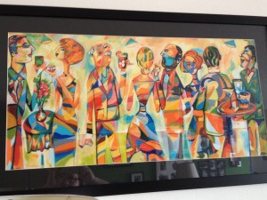"""The Drinkers"" by Fort Wayne artist Terry Ratliff was purchased at Taste of the Arts 2012"
