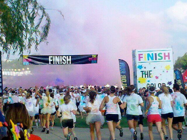 Color Run Finish Line